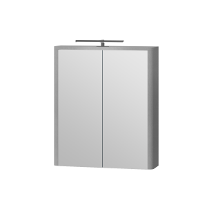 Дзеркальна шафа Livorno LvrMC-60 структурний сірий