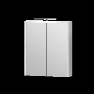 Дзеркальна шафа Livorno LvrMC-60 структурний білий