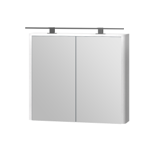Дзеркальна шафа Livorno LvrMC-80 структурний білий