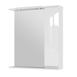 Дзеркальна шафа Monika MMC3-75 права біла
