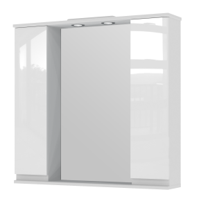 Дзеркальна шафа Monika MMC3-87 біла