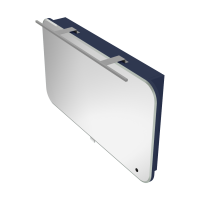Дзеркальна шафа Velluto VltMC-100 синя