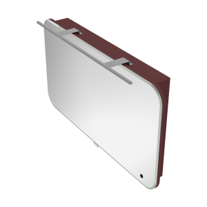 Дзеркальна шафа Velluto VltMC-100 бордова