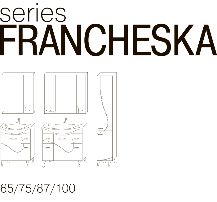 Серия мебели FRANCHESKA JUVENTA чертеж