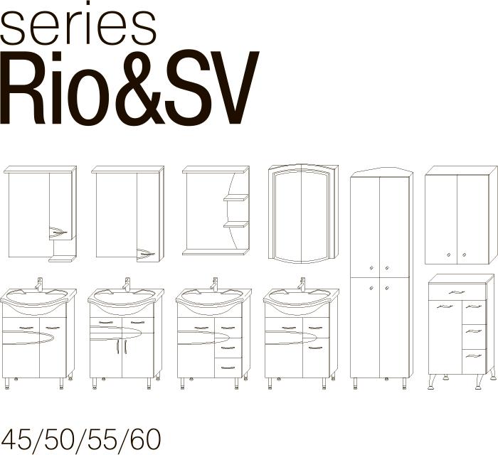 Серия мебели RIO JUVENTA чертеж