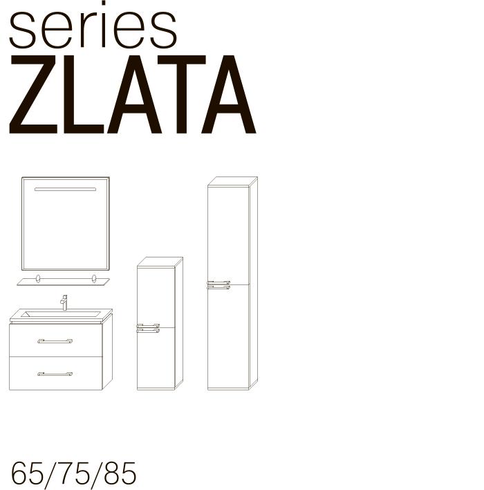 Серия мебели ZLATA JUVENTA чертеж